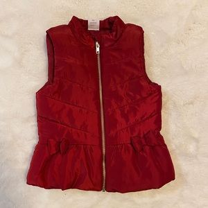 wonder nation Jackets & Coats - Toddler red zip up puffer vest sz 3t